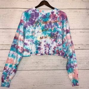 """""""Be Your Own Kind of Beautiful"""" Tie Dye Crop Top"""